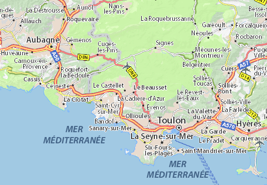 Karte Stadtplan Le Beausset