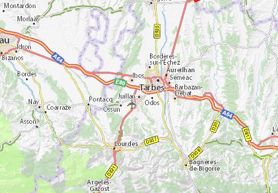 Karte Stadtplan Juillan