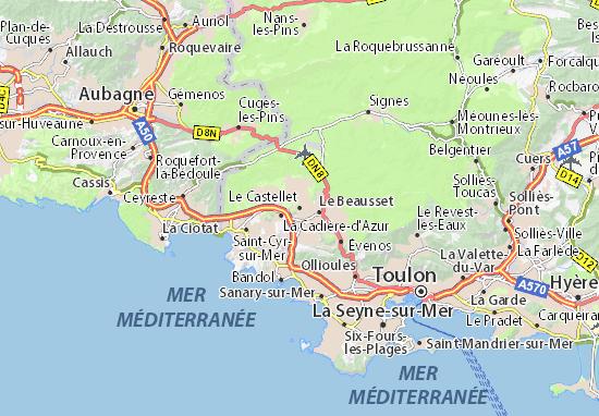 Le Castellet Circuit : Karte stadtplan le castellet viamichelin
