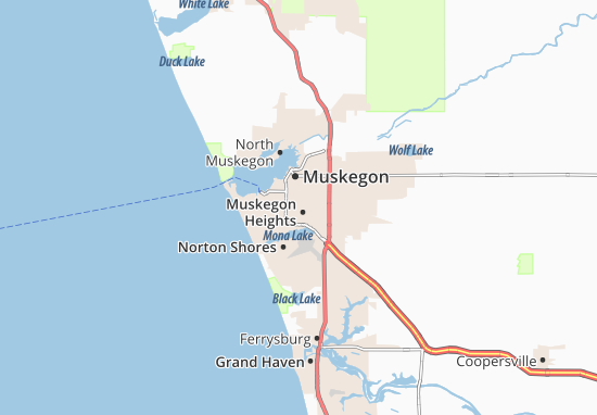 Muskegon Heights Map