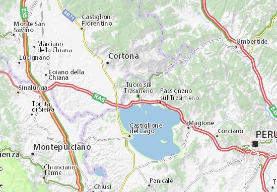 Tuoro sul Trasimeno Map