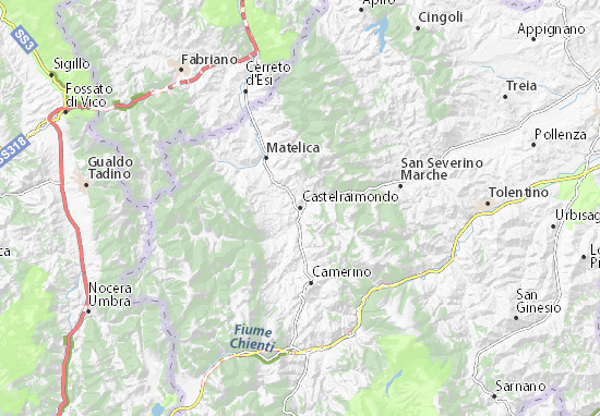 Castelraimondo Map