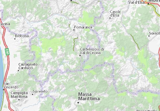Carte-Plan Castelnuovo di Val di Cecina