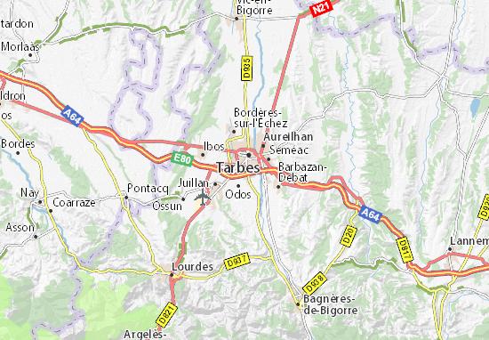 Karte Stadtplan Odos