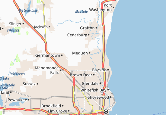 Mequon Map