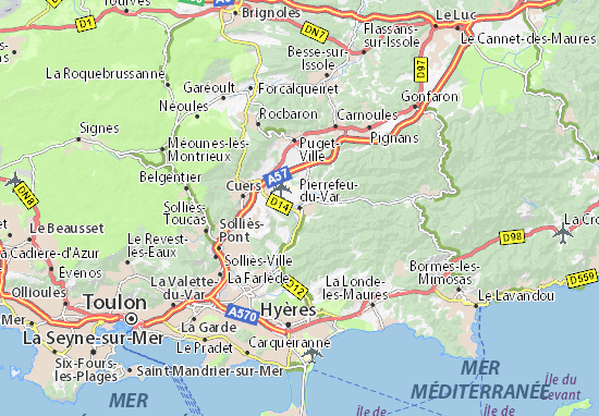 Carte-Plan Pierrefeu-du-Var