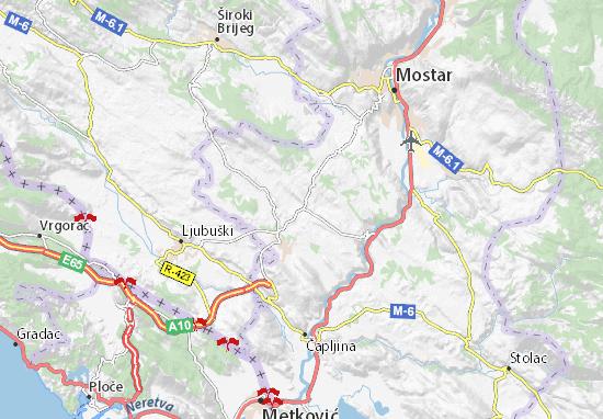 Čitluk Map
