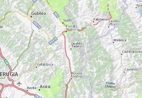 Gualdo Tadino Map