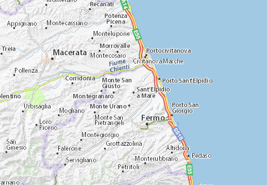 Karte Stadtplan Sant'Elpidio a Mare