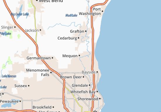 Thiensville Map