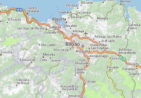 Alonsotegi Map
