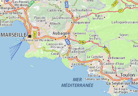 Roquefort-la-Bédoule Map
