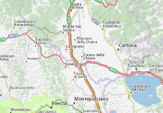 Karte Stadtplan Foiano della Chiana