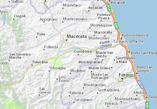 Mapas-Planos Corridonia