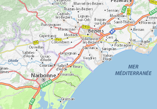 Mapa Plano Lespignan