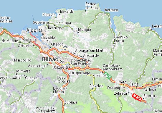 Aretxalde Map