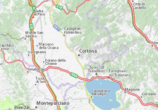 Cortona Map: Detailed maps for the city of Cortona - ViaMichelin