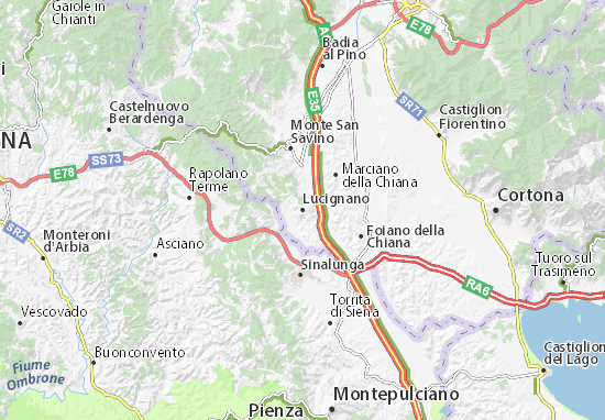 Carte-Plan Lucignano
