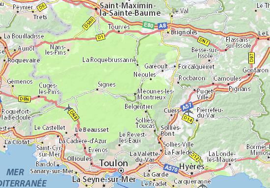 Carte-Plan Méounes-lès-Montrieux