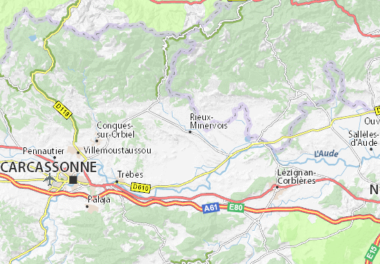 Mapa Plano Rieux-Minervois