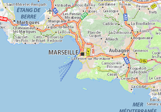 Marseille 07 map detailed maps for the city of marseille for Viamichelin marseille