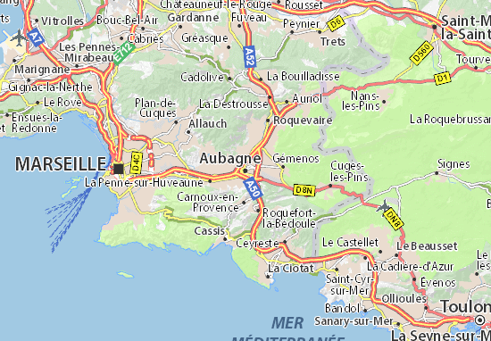 Karte Stadtplan Aubagne