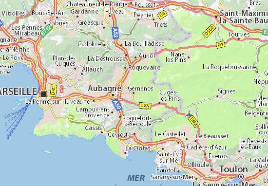 Karte Stadtplan Gémenos