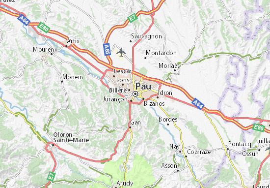 Kaart Plattegrond Pau