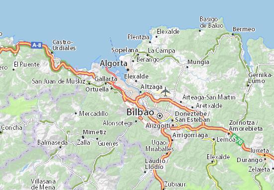 Mapas-Planos San Vicente de Barakaldo