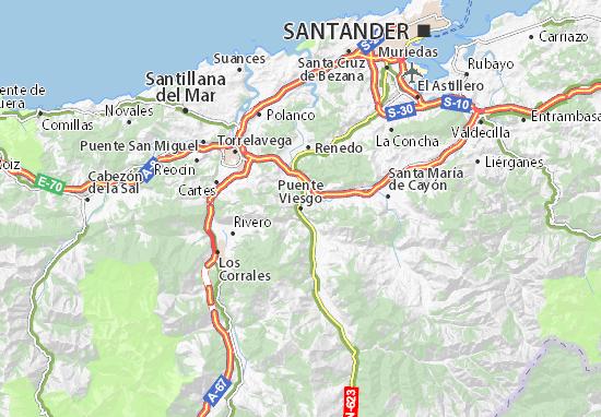 Mapas-Planos Puente Viesgo