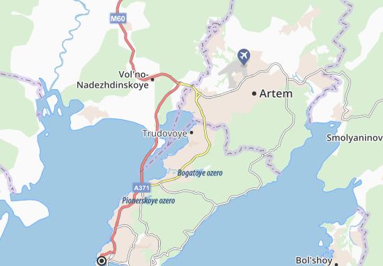 Kaart Plattegrond Trudovoye