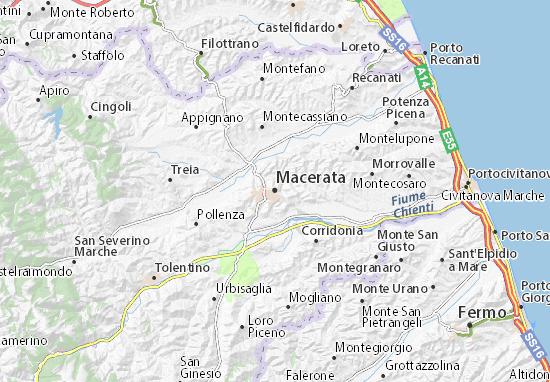 Macerata Map