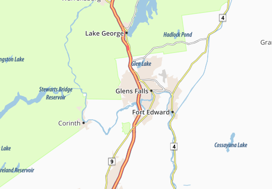 West Glens Falls Map