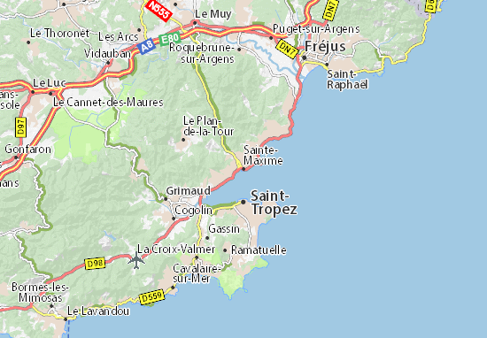 Carte-Plan Sainte-Maxime