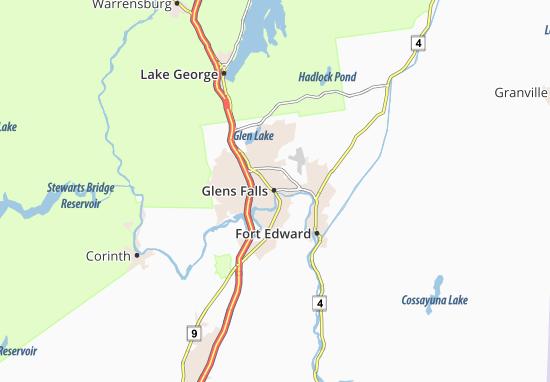 Carte-Plan Glens Falls