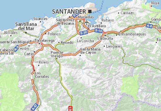 Mapas-Planos Santa María de Cayón