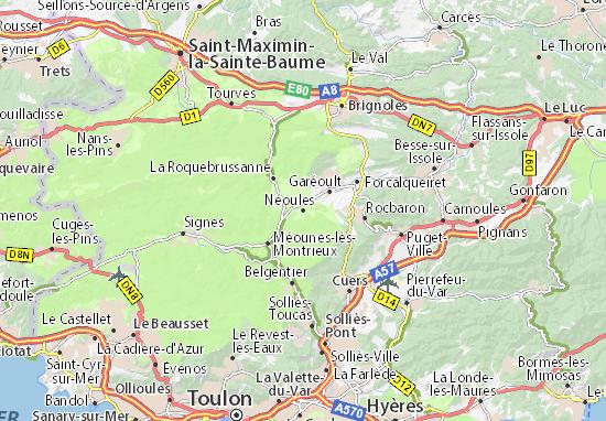Kaart Plattegrond Néoules