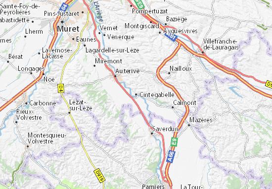 Kaart Plattegrond Cintegabelle