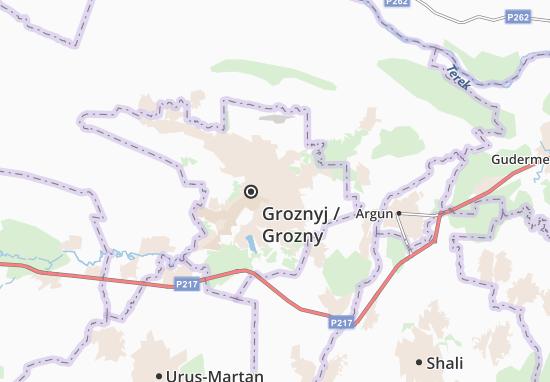 Mapa Plano Groznyj