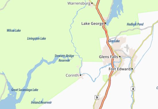 Lake Luzerne Map