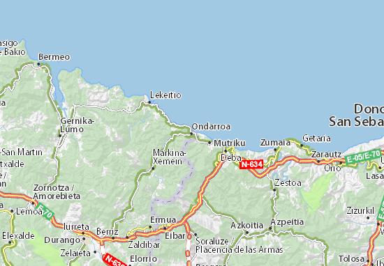 Karte Stadtplan Ondarroa