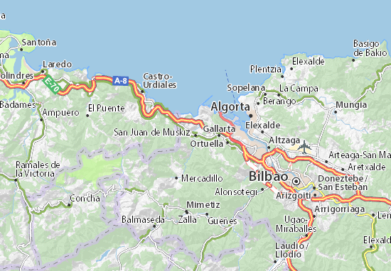 San Juan de Muskiz Map