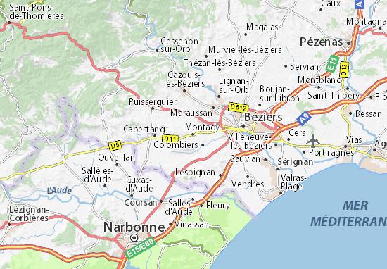 Mapa Plano Montady