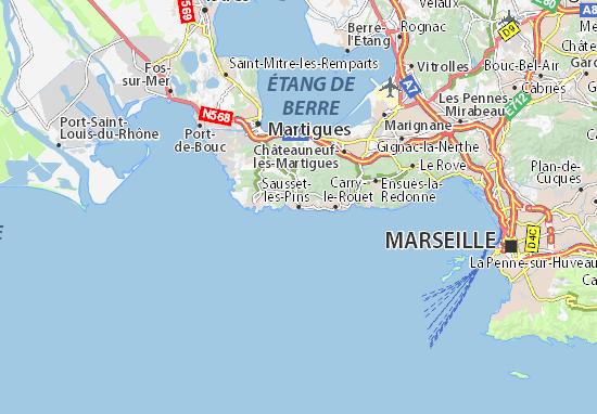 Sausset-les-Pins Map