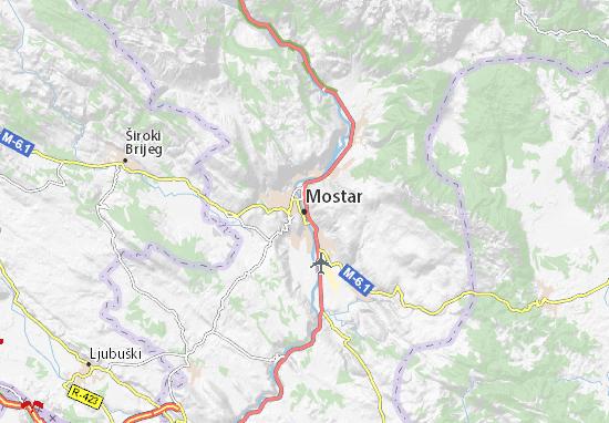 Kaart Plattegrond Mostar