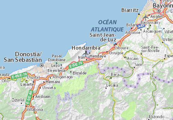 b8e5648726e Carte détaillée Irun - plan Irun - ViaMichelin