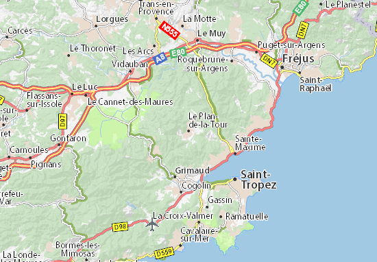 Mappe-Piantine Le Plan-de-la-Tour