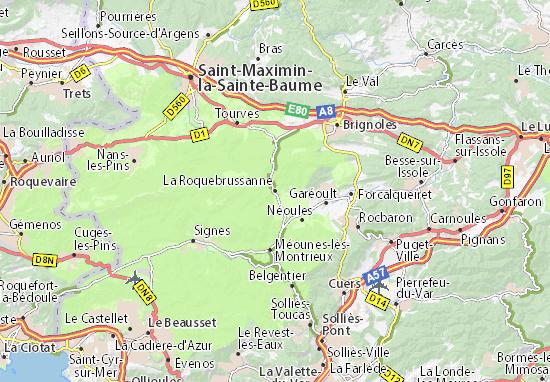 Carte-Plan La Roquebrussanne