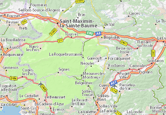 Kaart Plattegrond La Roquebrussanne