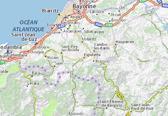 Mapas-Planos Espelette
